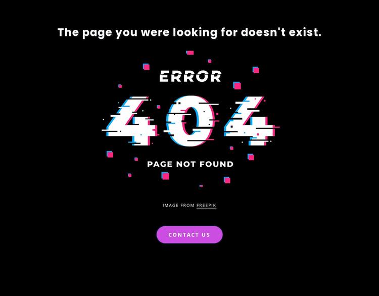 404 not found error message Website Template