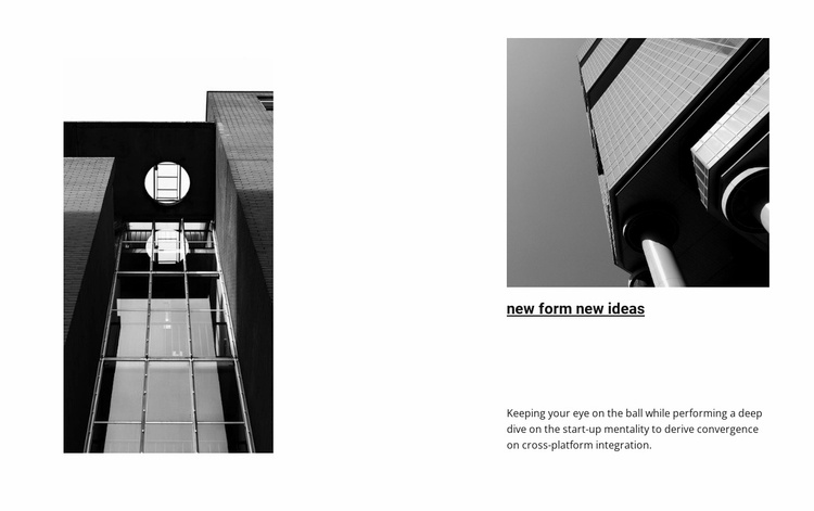 Black and white photography of architecture Website Template