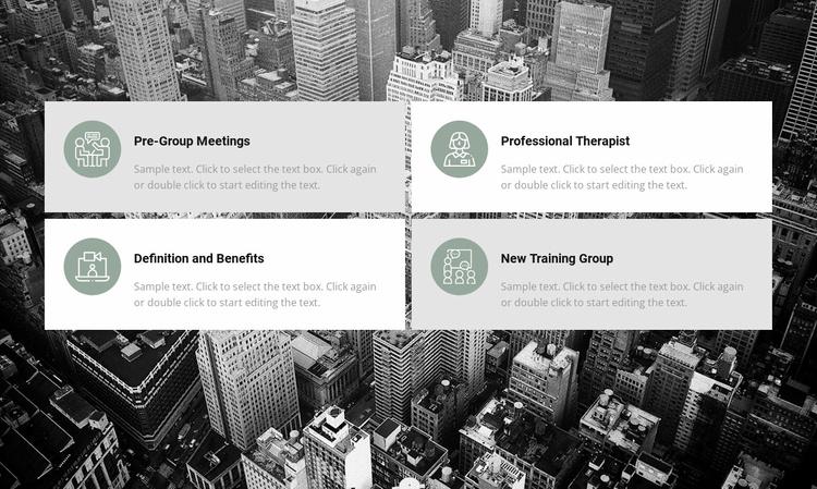 List of work areas Website Template