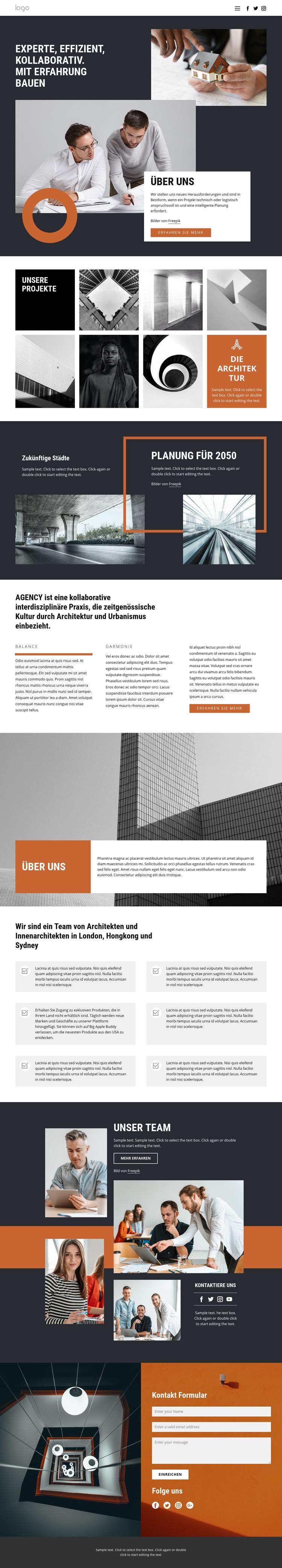 Architekten Designgruppe Website-Vorlage