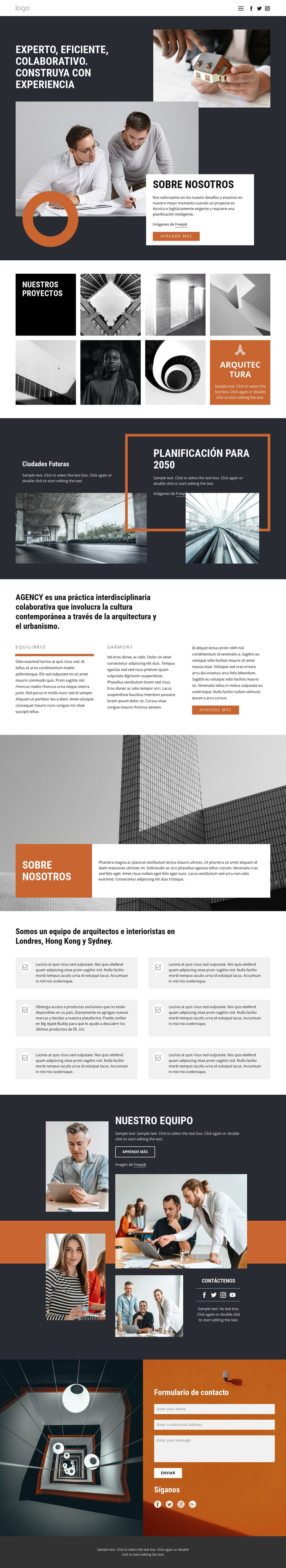 Grupo de diseño de arquitectos Plantilla de sitio web