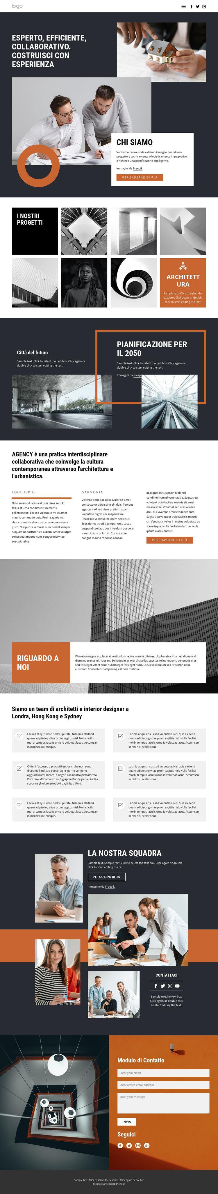 Gruppo di progettazione di architetti Modello di sito Web