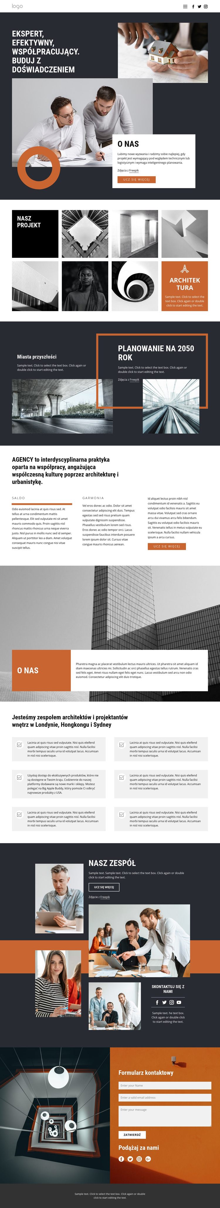 Grupa projektowa architektów Szablon witryny sieci Web