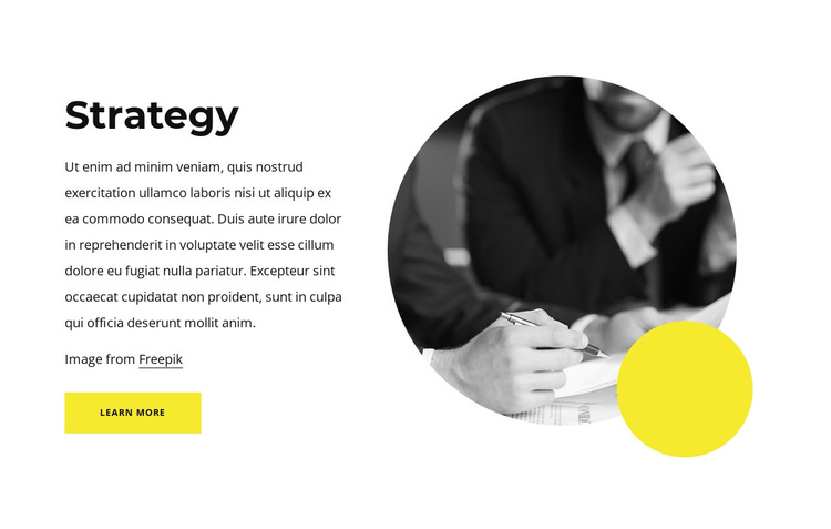 Business strategy news HTML Template