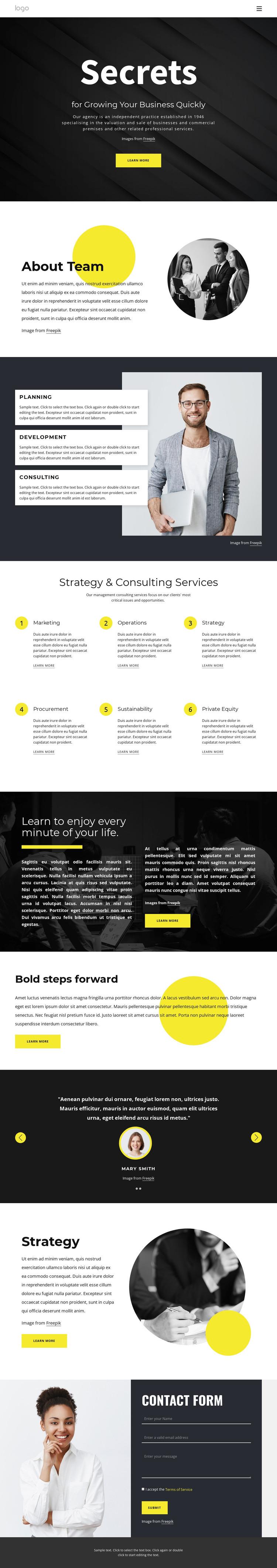 Secrets of growing business WordPress Theme