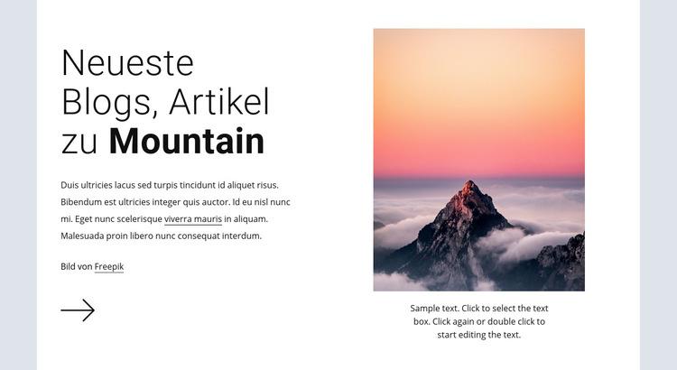 Wanderabenteuer Expeditionen Website-Vorlage