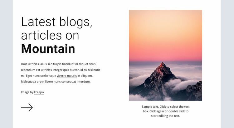 Hiking adventures expeditions Website Template