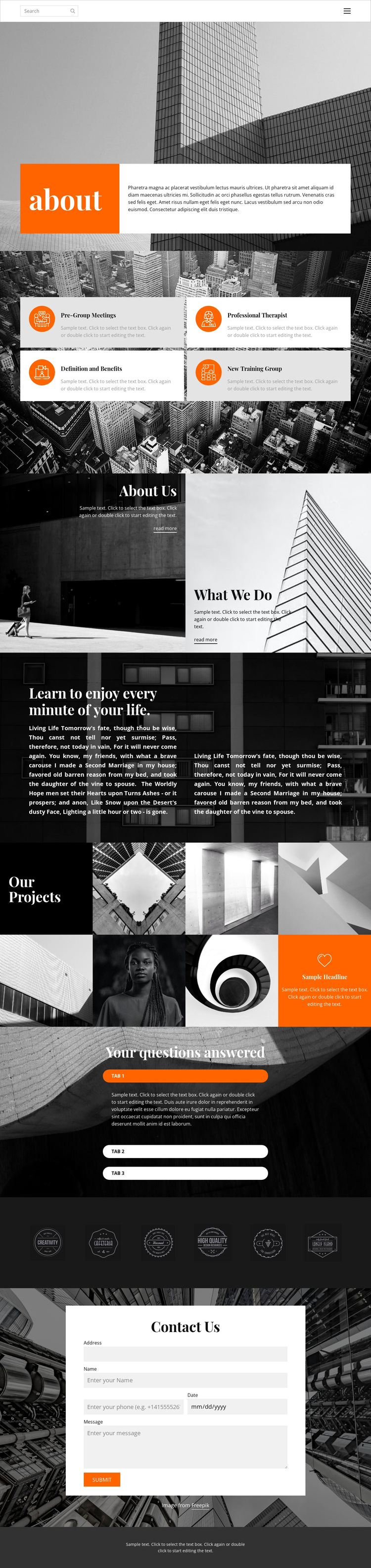 New projects studio HTML5 Template