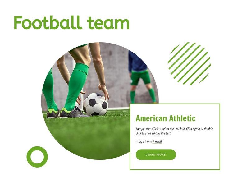 Football team Web Page Designer