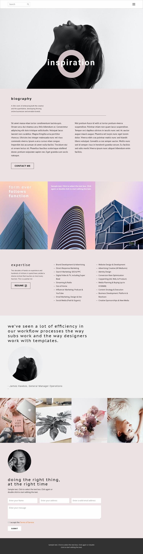 Inspiration advance Web Page Designer