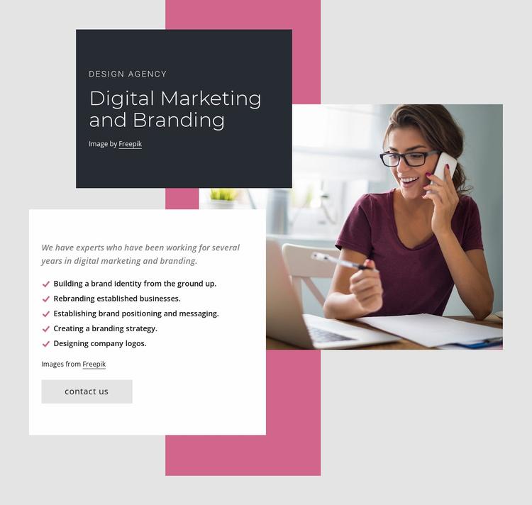 Digital marketing and branding Website Template