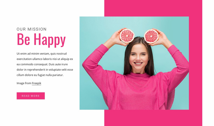 Healthy foods Website Template