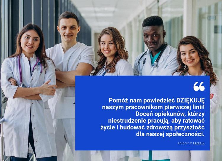 Zespół opieki zdrowotnej Szablon witryny sieci Web