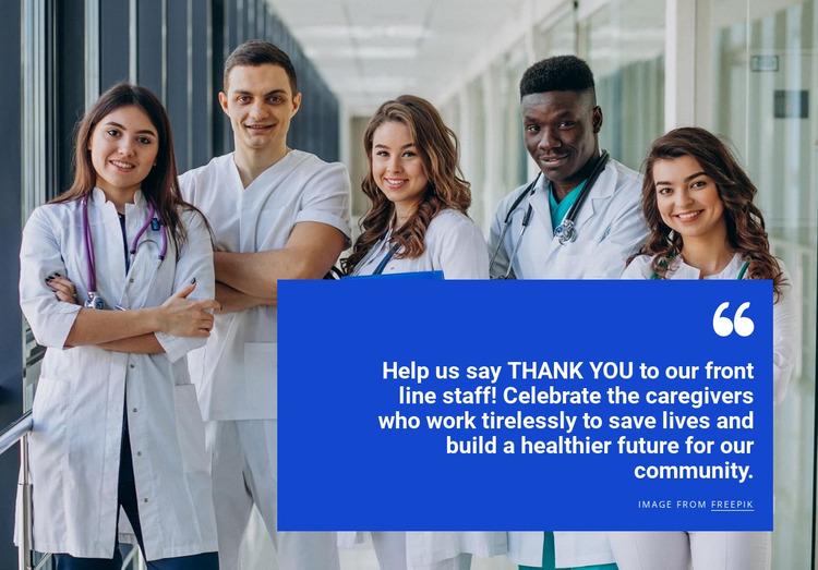 Healthcare team Website Mockup