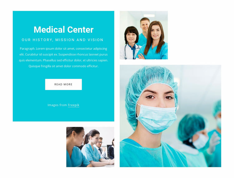 Urgent care and primary care Website Template
