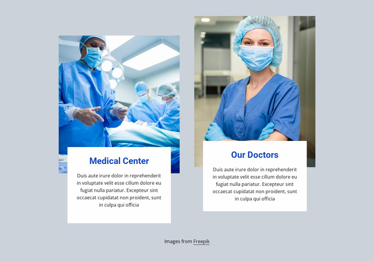 The surgical team Website Template