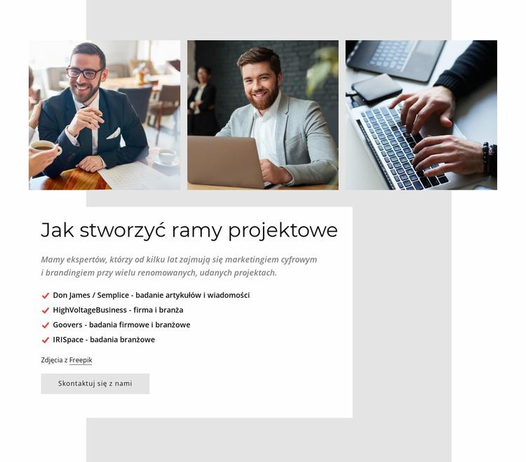Firma zajmująca się tworzeniem stron internetowych Szablon Joomla