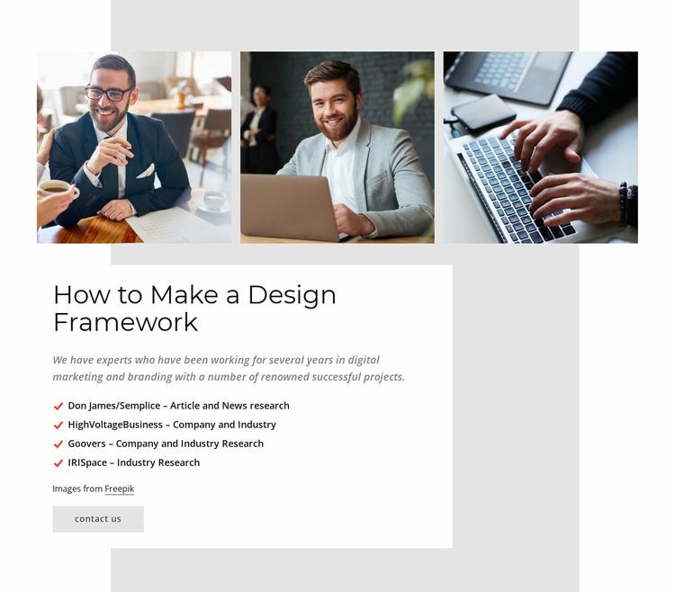 Web development firm Website Template