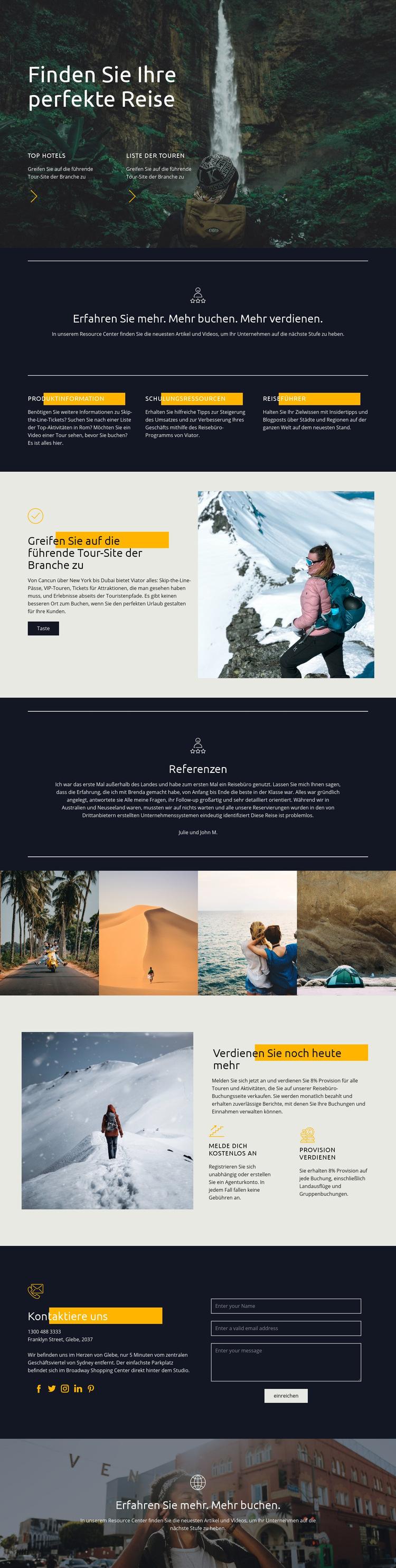 Finden Sie Ihre perfekte Reise Website-Vorlage