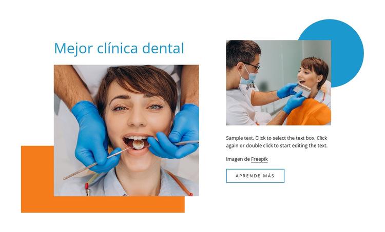 Tus dentistas familiares Plantilla de sitio web