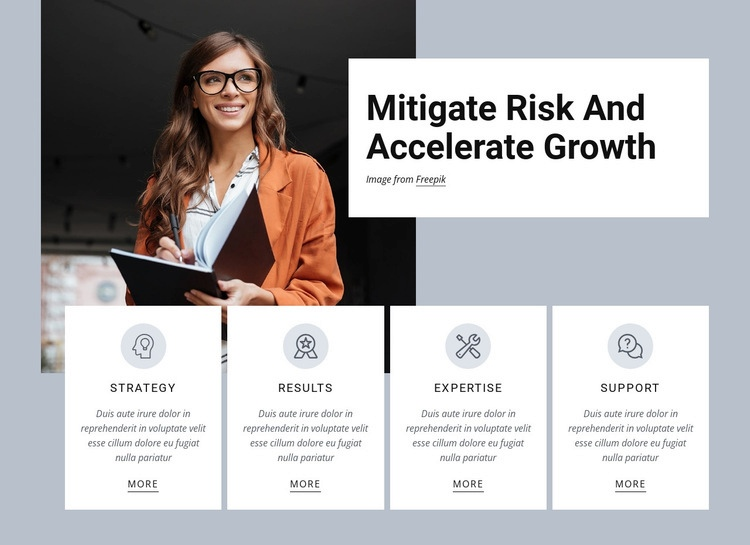 Accelerate growth Html Code Example