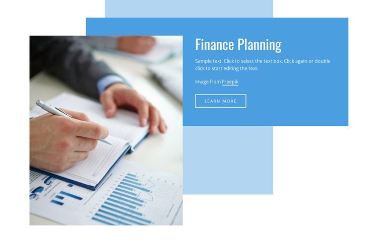 Financial planning Joomla Page Builder