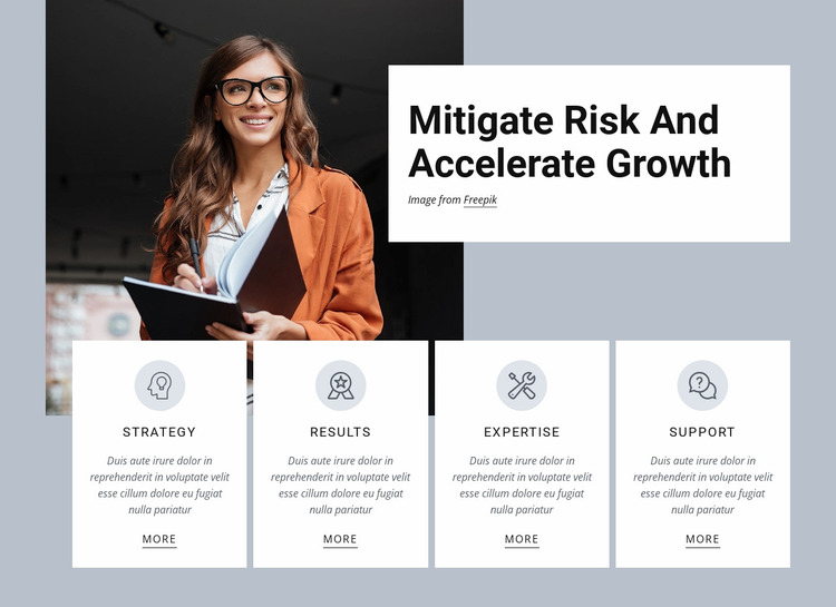 Accelerate growth Website Mockup