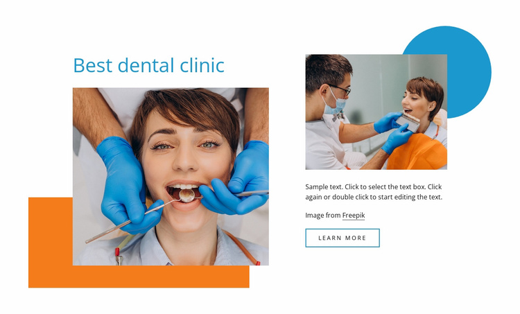 Your family dentists Website Template