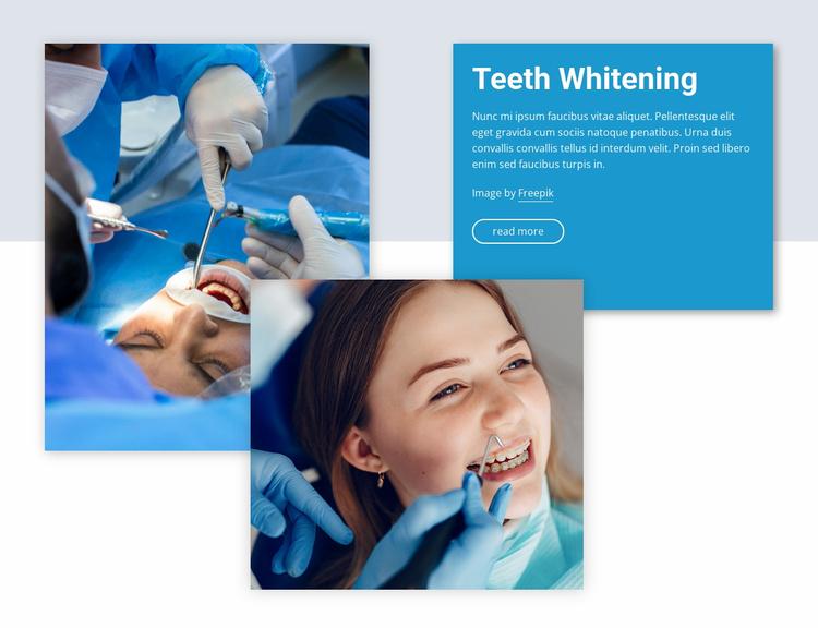 Professional teeth whitening Website Template
