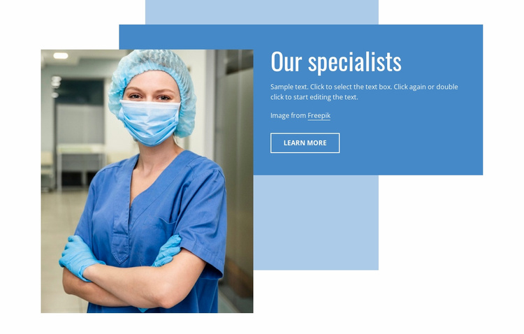 Our specialists Website Template
