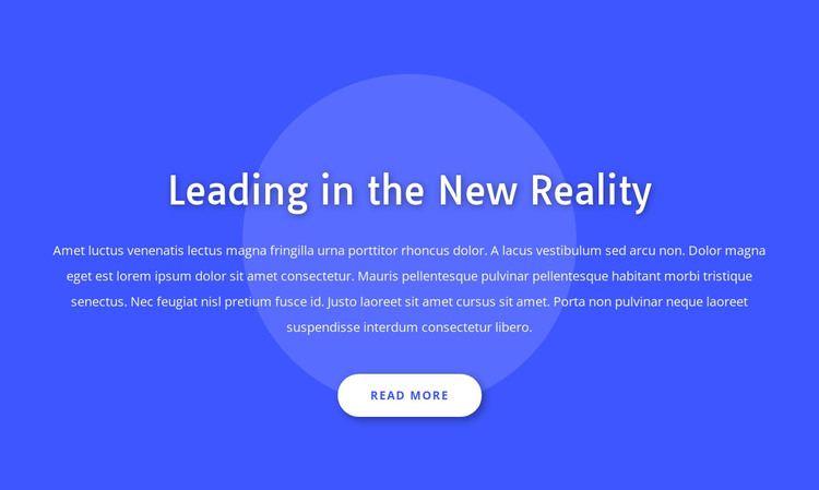 Leading in the new reality HTML Template