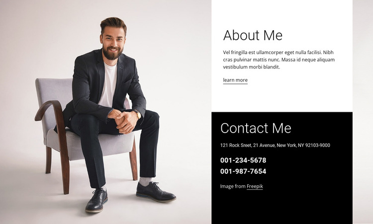 I am a brand consultant HTML5 Template