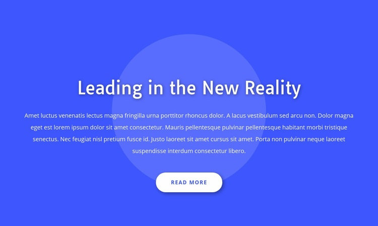 Leading in the new reality Web Page Designer