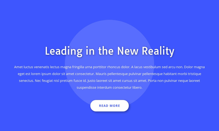 Leading in the new reality Website Builder Templates