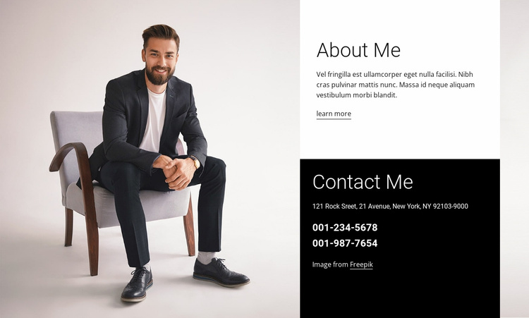 I am a brand consultant Landing Page