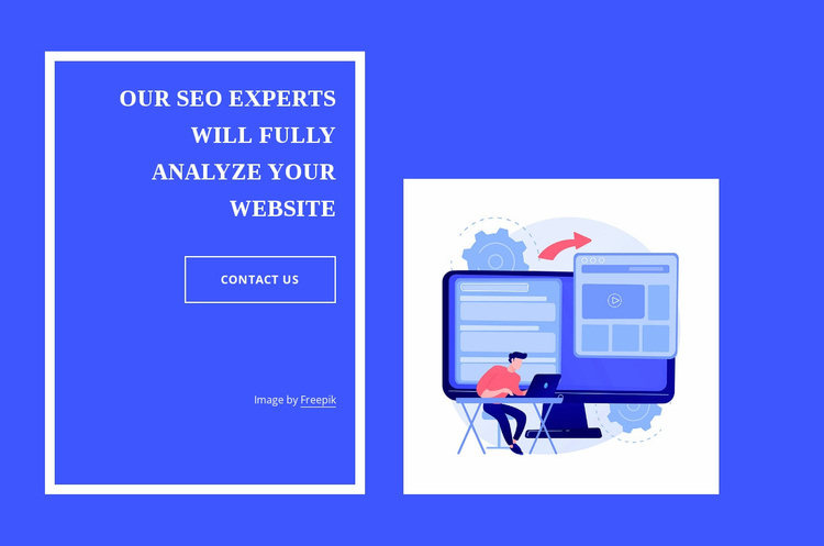 Our seo experts Website Template