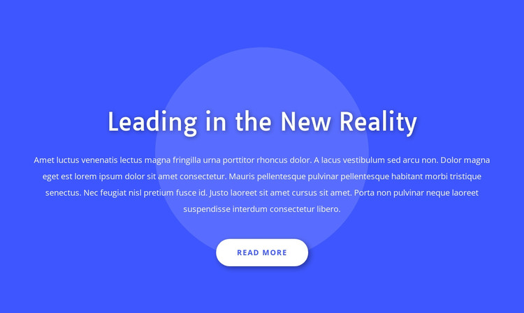 Leading in the new reality WordPress Theme