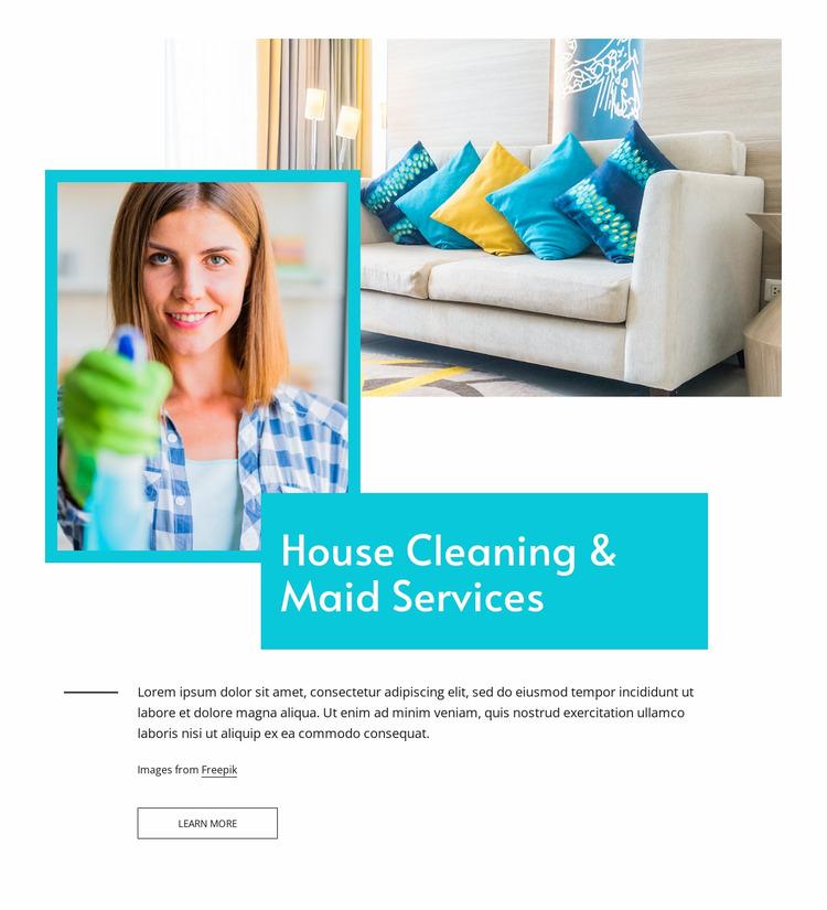 Maid services Website Mockup