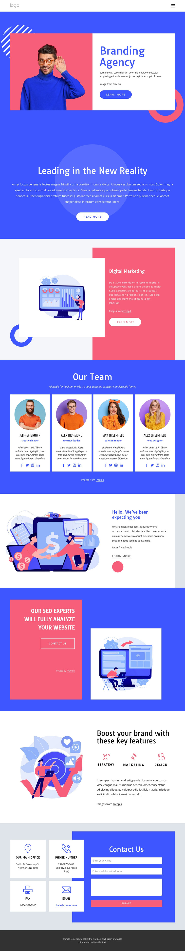 We create highly effective campaigns HTML Template