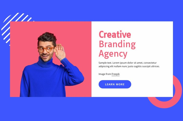 We use brains to create brands Html Code Example
