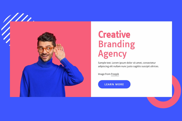 We use brains to create brands Website Template