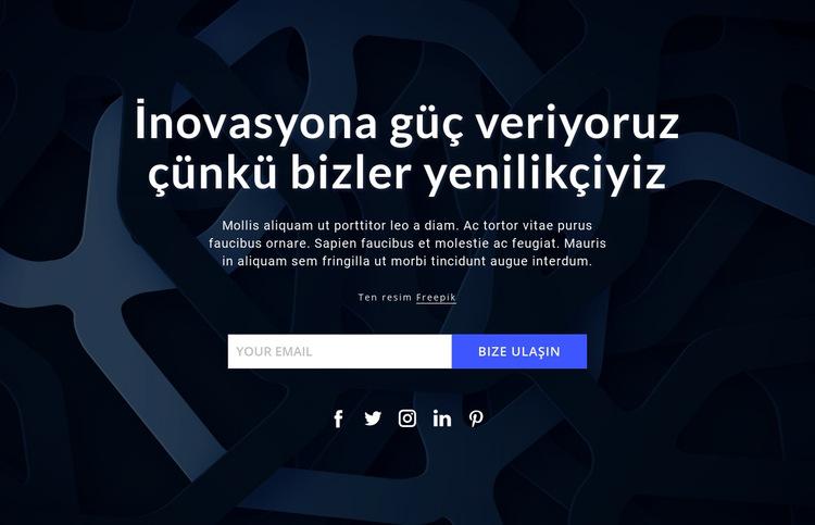 Yeniliklere güç veriyoruz Web Sitesi Şablonu