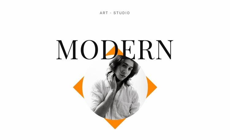 Art studio modern Html Code Example