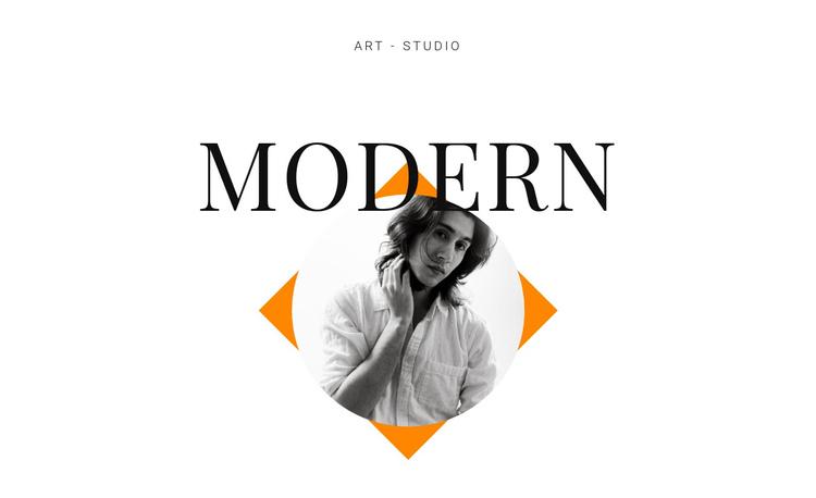 Art studio modern One Page Template