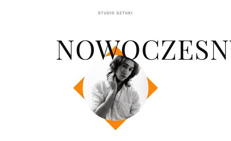 Studio artystyczne nowoczesne Szablon witryny sieci Web