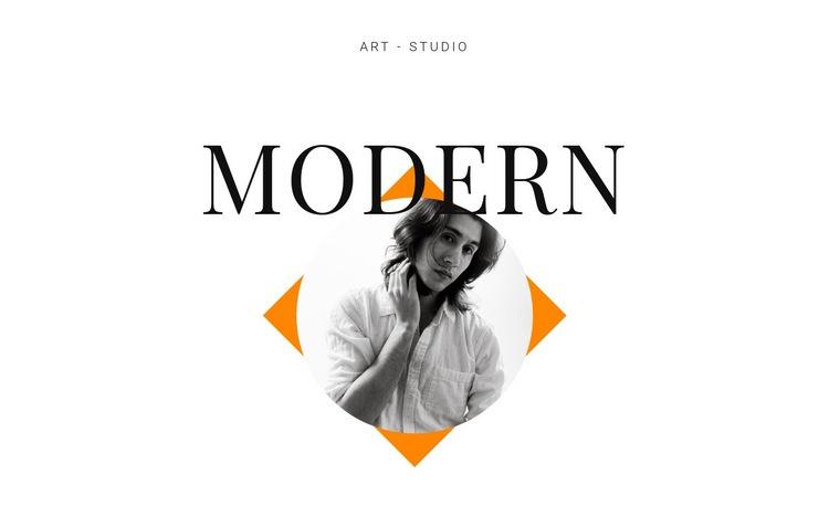 Art studio modern Web Page Design