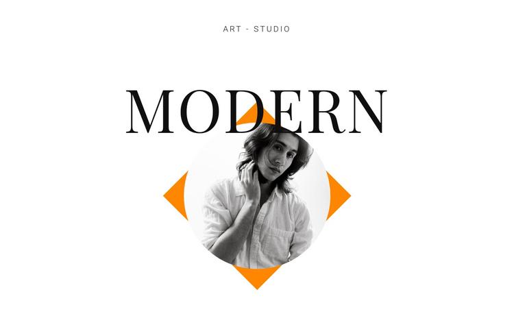 Art studio modern Website Builder Software