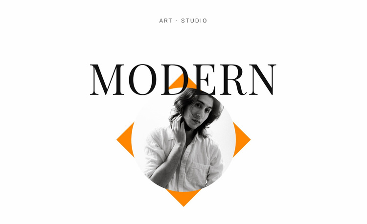 Art studio modern Website Design