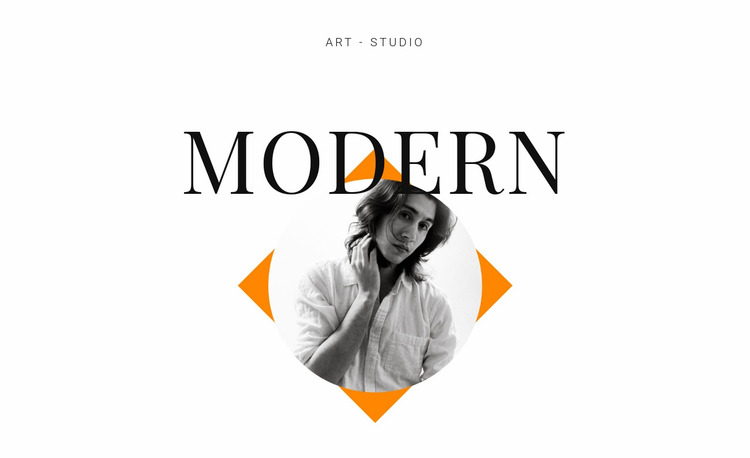 Art studio modern Website Mockup