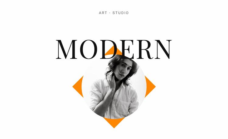 Art studio modern Website Template